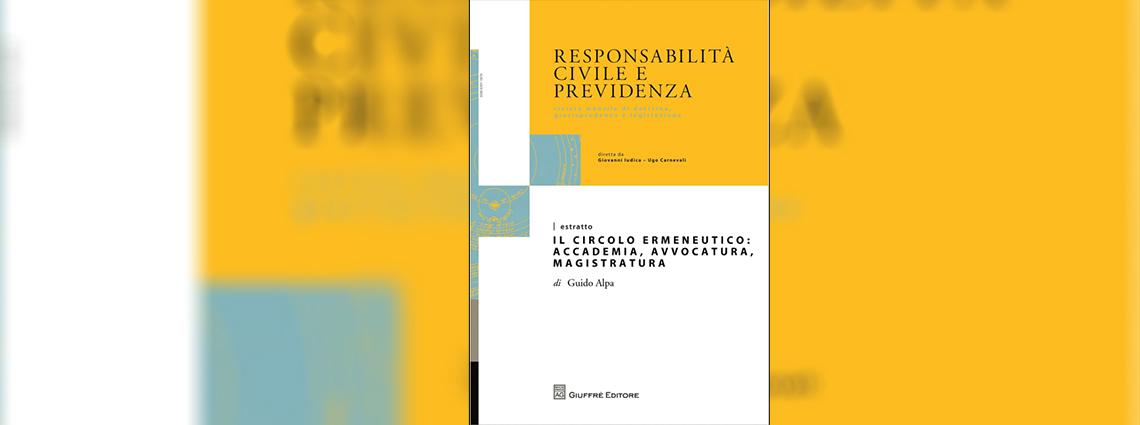 Circolo ermeneutico Responsabilità civile e previdenza 2015