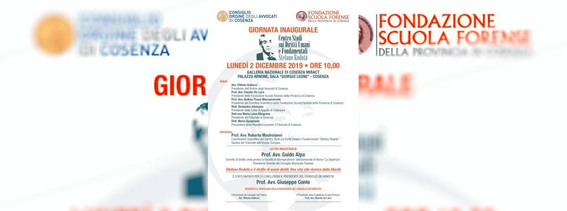 Giornata Inaugurale Centro Studi sui Diritti Umani e Fondamentali Stefano Rodota'